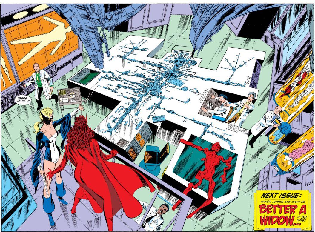From West Coast Avengers, Marvel Comics (1985).