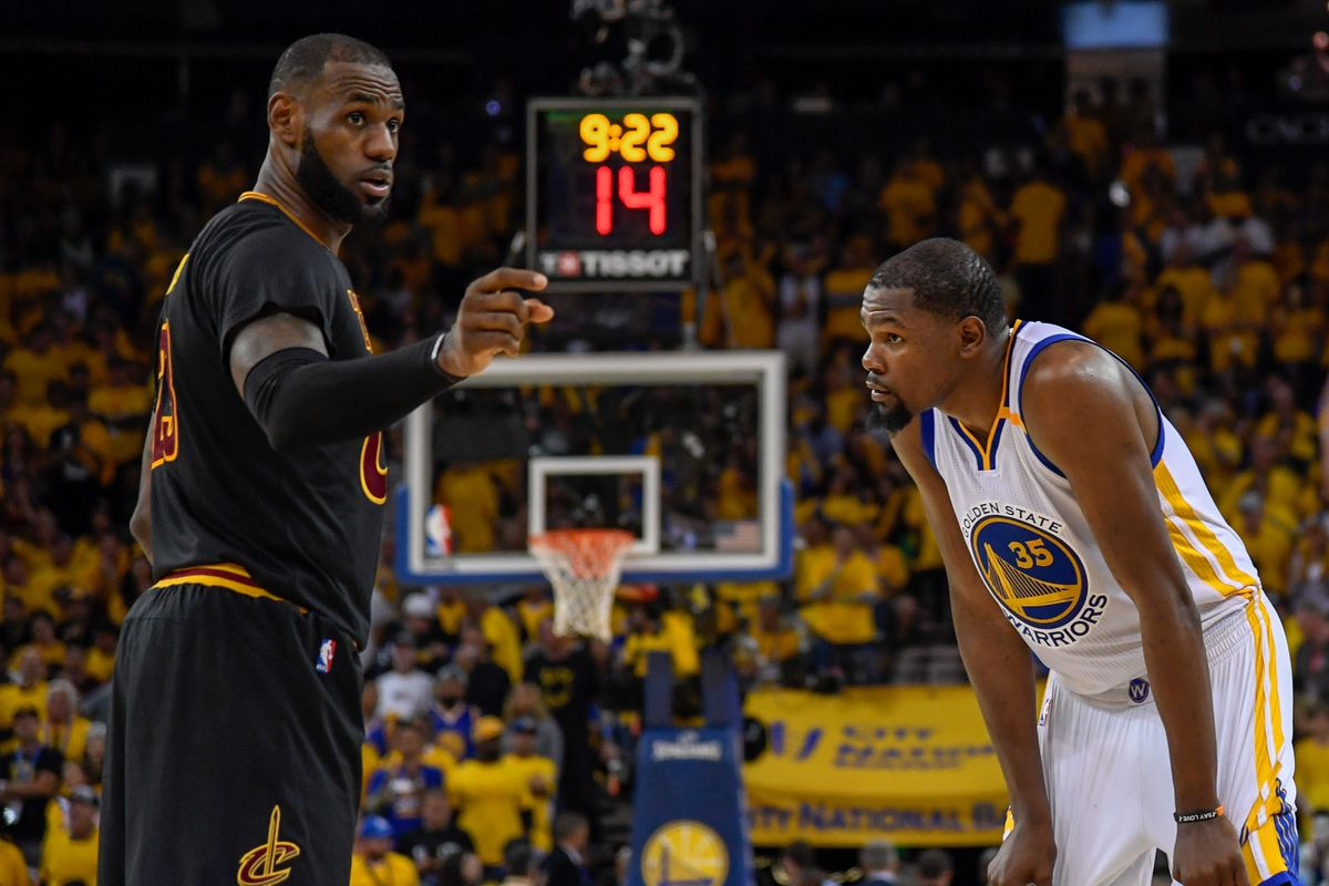 LeBron James and Kevin Durant face off on Christmas day. - Golden ...