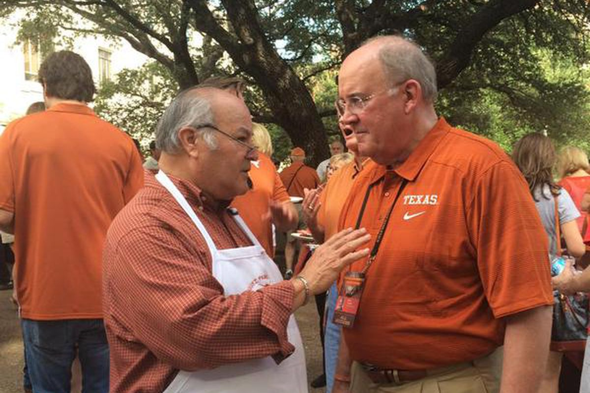 Mike Perrin (right) at a tailgate