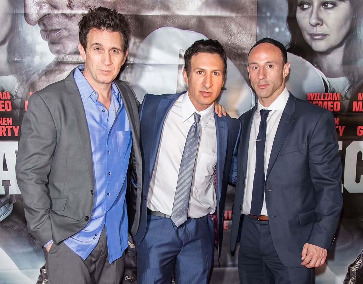 Ronnie Marmo, William DeMeo and Lillo Brancato attend a 'Back in the Day' screening in May 2016. (GettyImages)