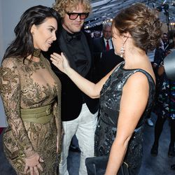 Kim Kardashian and British Vogue editor Alexandra Shulman