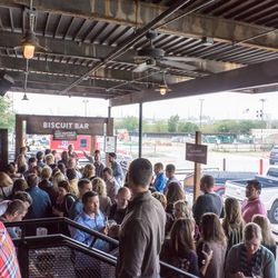 The Biscuit Bar's crazy-long line