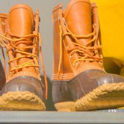 Mens LL Bean duck boots, $40