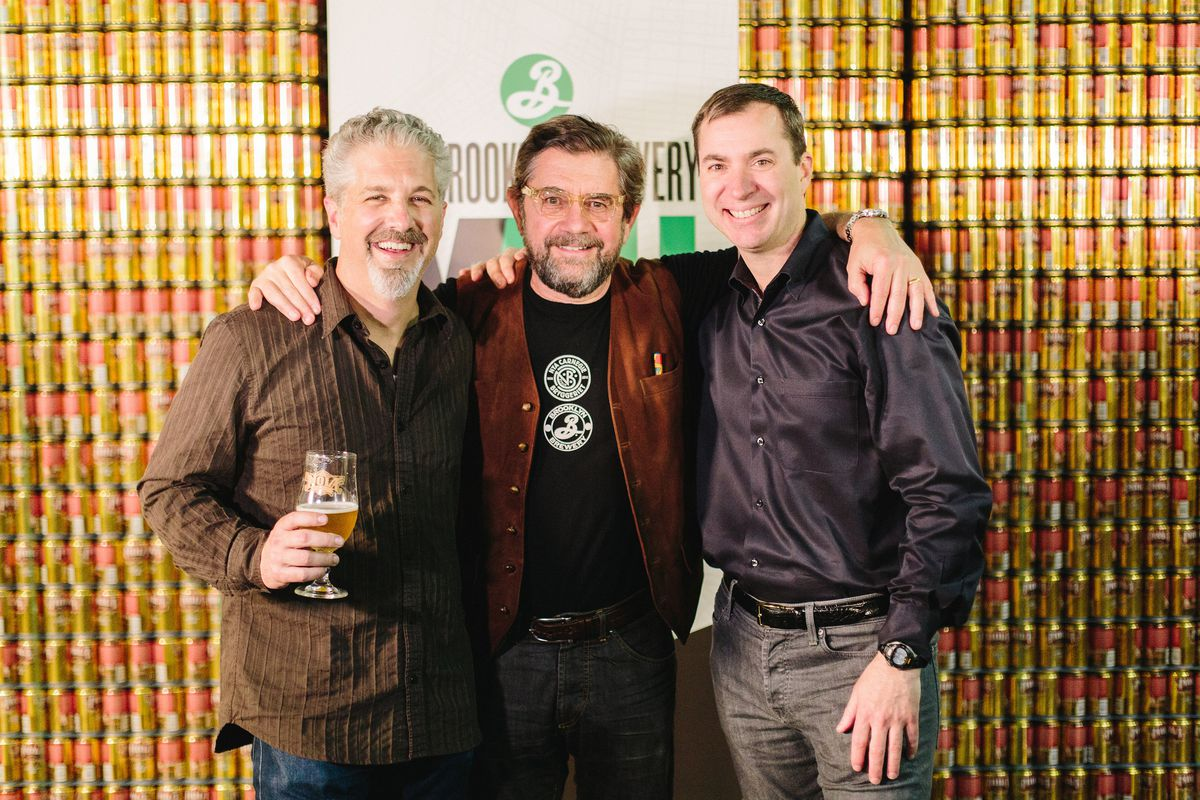 Steve Hindy at last years panel discussion, flanked by NOLA Brewing's Kirk Coco and Abita's David Blossman