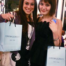 Satisfied shoppers at Cynthia Rowley. Photo by Randy Ceballos.