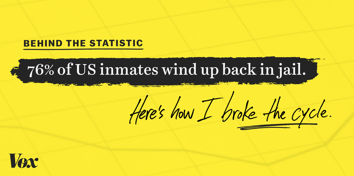76% of all inmates end up back in jail within 5 years  Here's how I