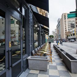 """Once you valet or grab a parking spot at the lot next door, start your day off with brunch at Eater-<A href=""""http://la.eater.com/archives/2014/01/16/updating_the_eater_brunch_heat_map_winter_2014.php"""">approved</a> LA Chapter, located at Downtown's <A href"""