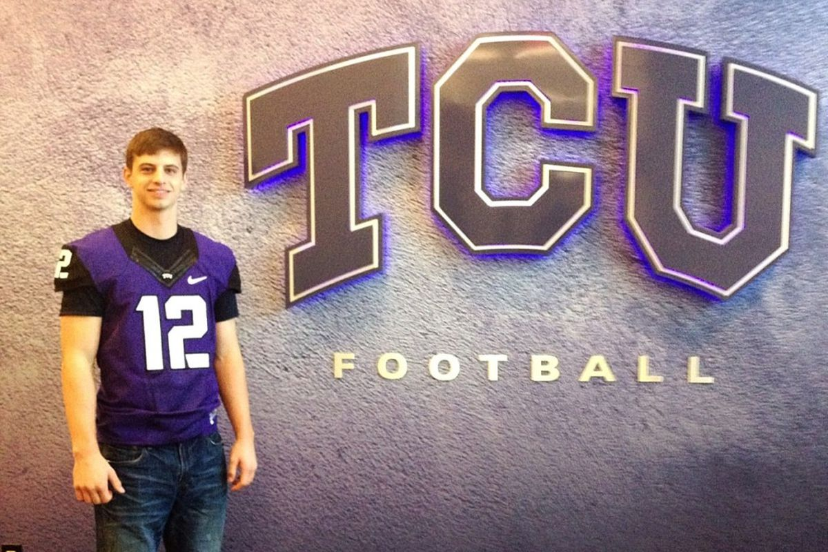 Grayson only smiles when he's wearing a TCU jersey.  Try googling other pictures of him.