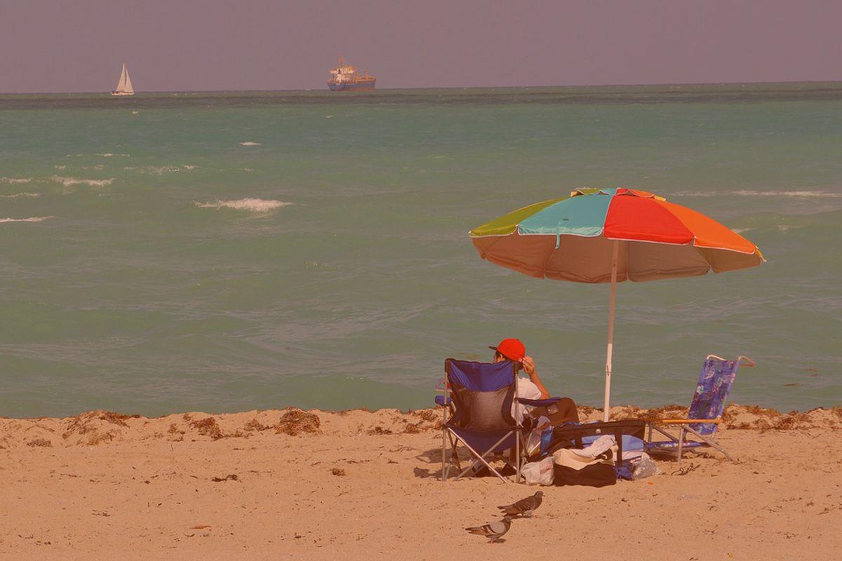 Miami Beach sand and ocean