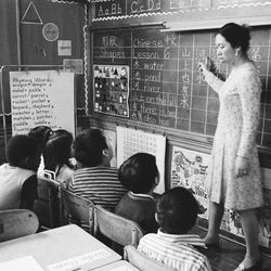 A bi-lingual classroom at Haines Elementary in Chinatown.   Sun-Times Archives