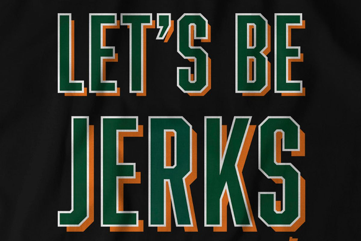 Get your Let's Be Jerks T-shirt from Breaking T