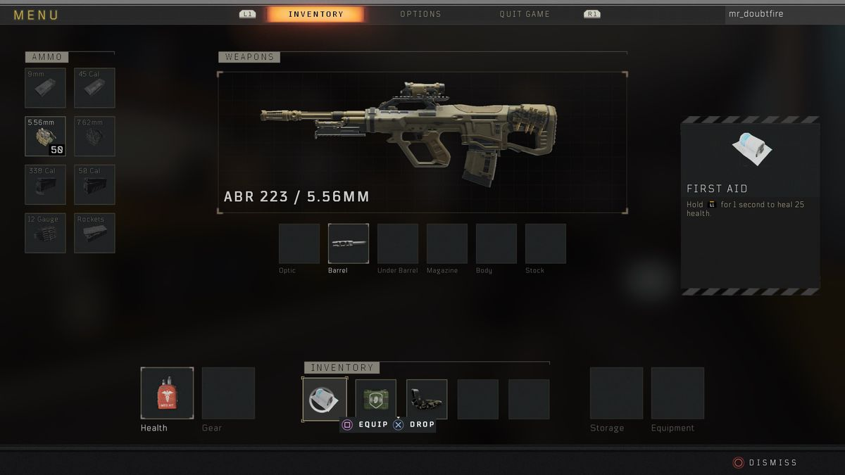Call of Duty: Black Ops 4 Blackout ABR 223