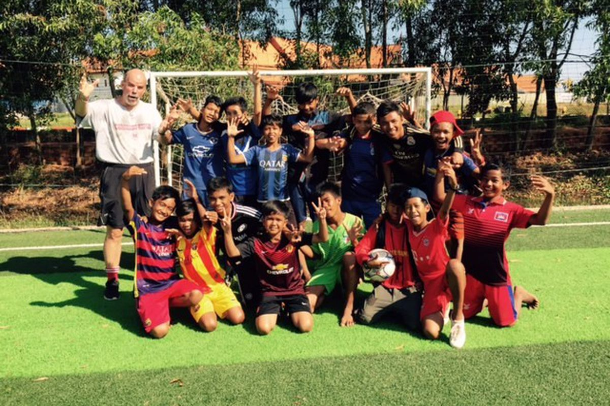 Having fun with some Next Step FC players in Siem Reap, Cambodia.