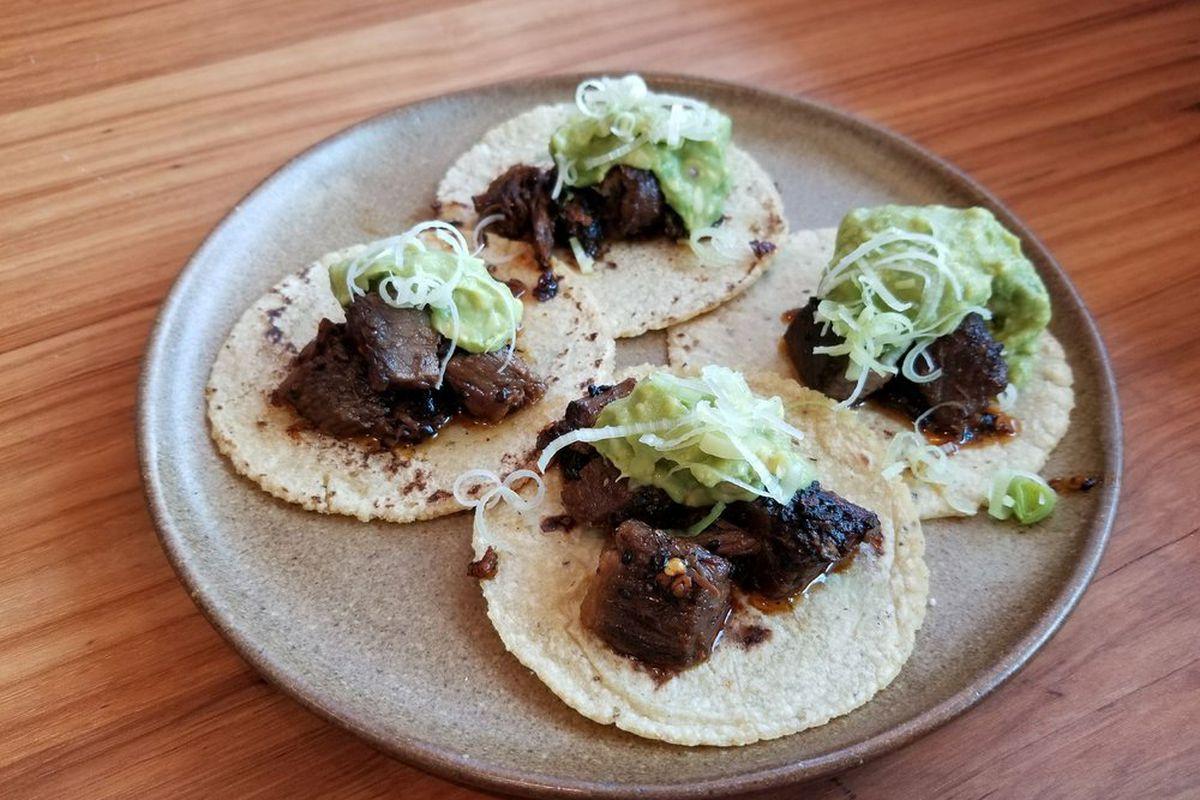 Suadero tacos from Suerte