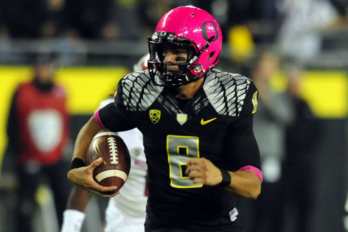 Oregon's Marcus Mariota can make a case for the Heisman, as well as the Pac-12 North crown, in this week's ESPN Gameday game against UCLA.