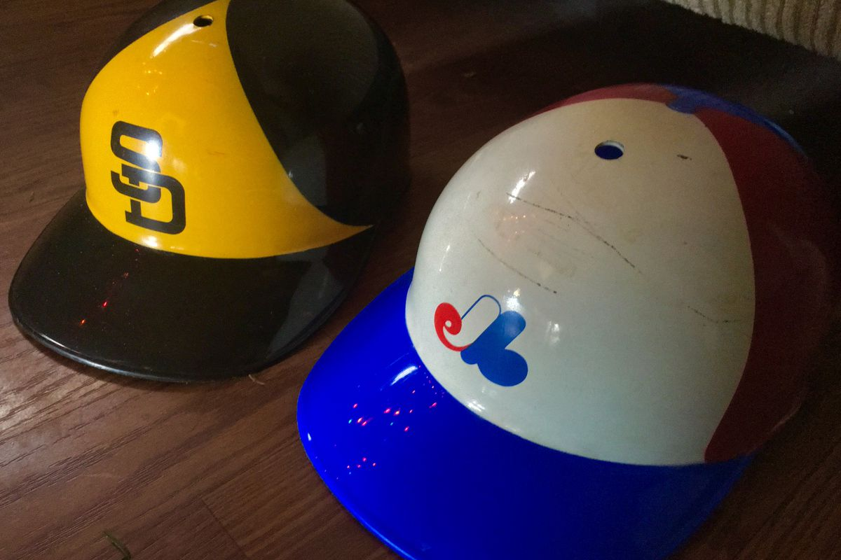 ca944c4d9a7c7 Vintage helmets of the  73 Padres and  69 Expos SD Hat Guy