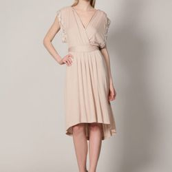 Twelfth St. By Cynthia Vincent beaded shoulder knit cross-over dress, $149 (orig. $345)