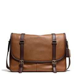 """<a href=""""http://f.curbed.cc/f/Coach_SP_031214_CourierBag"""">Bleecker Courier Bag in Harness Leather</a>, $498"""