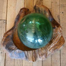 It's a vintage glass buoy!