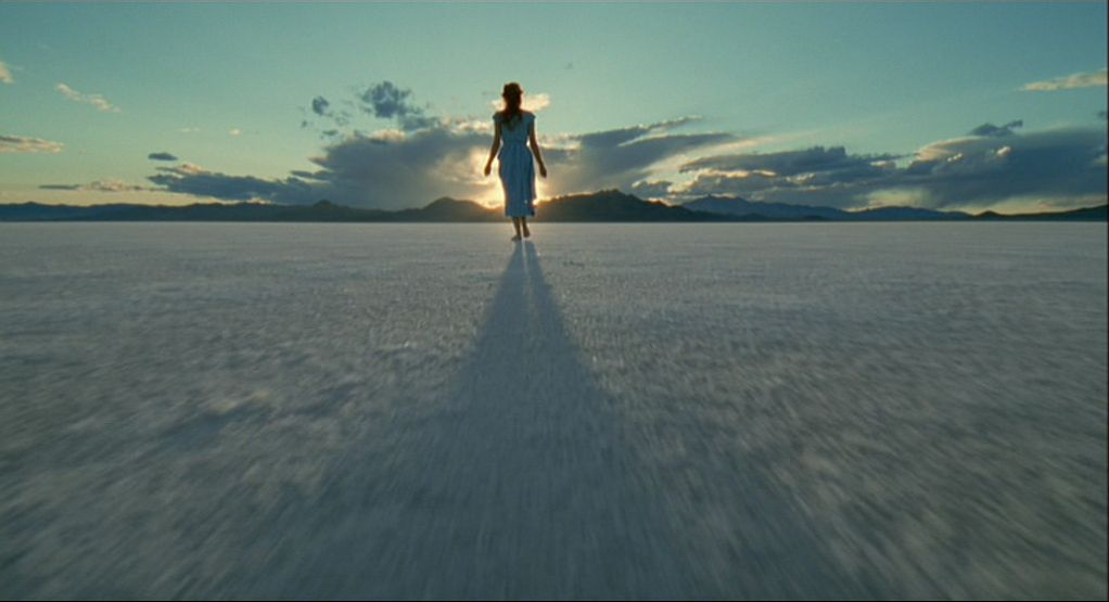 Jessica Chastain in the desert