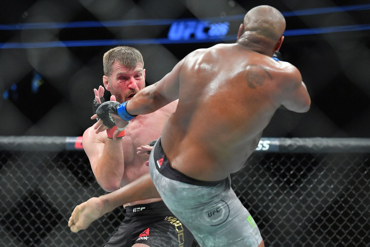 Stipe miocic isnt happy about brock lesnars antics at ufc 226 it photo by sam wassongetty images stopboris Images