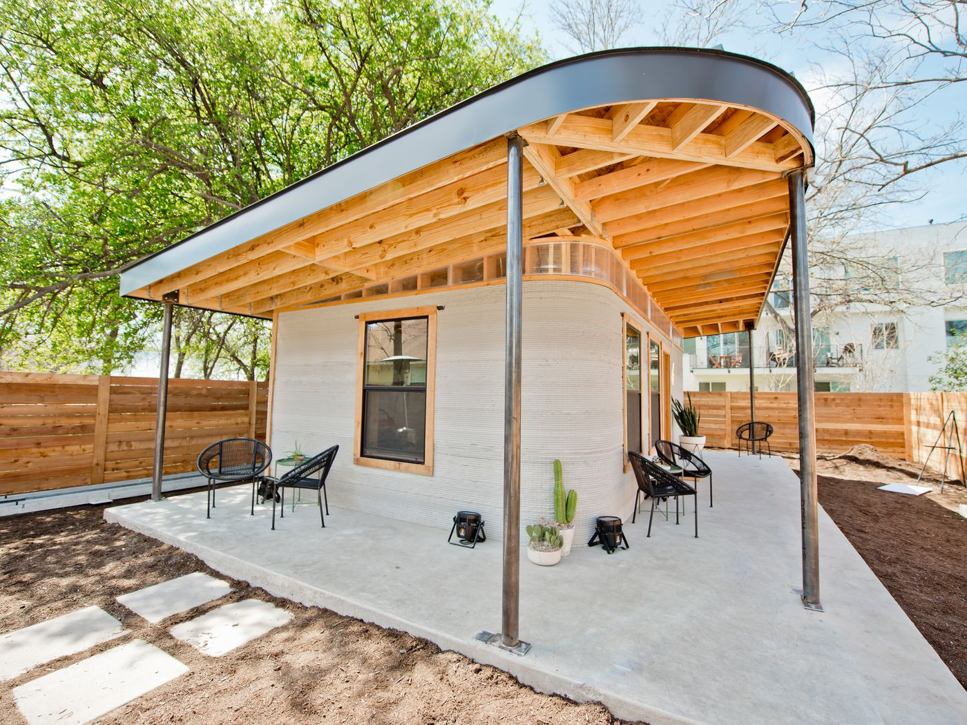 The tiny house made with a 3D printer at SXSW is adorable
