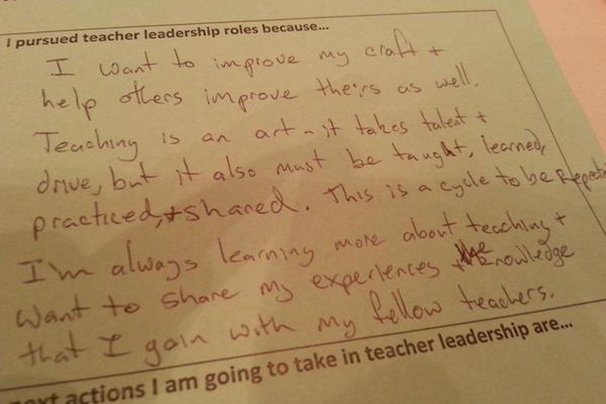 A teacher leader's tweet from the Teach to Lead summit in Denver.