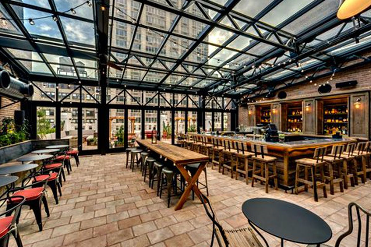 """Just replace those tables and chairs with bikes and yoga mats. Photo: <a href=""""http://www.yelp.com/biz_photos/refinery-hotel-new-york?select=omAufd_2NfJ-obsT_A1tVQ#omAufd_2NfJ-obsT_A1tVQ"""">Yelp</a>"""