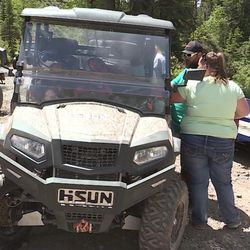 Levi Dean and his family enjoying hitting the dirt roads in American Fork Canyon on a side-by-side vehicle. Dean said while getting ready for a ride in the canyon on Saturday, June 17, that he gave up the four-wheeler so that his entire family could ride together.