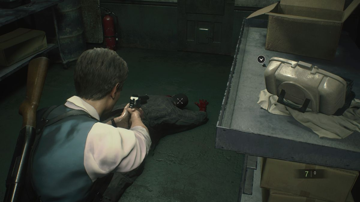 RE2 remake Leon 2nd Sewers Workroom