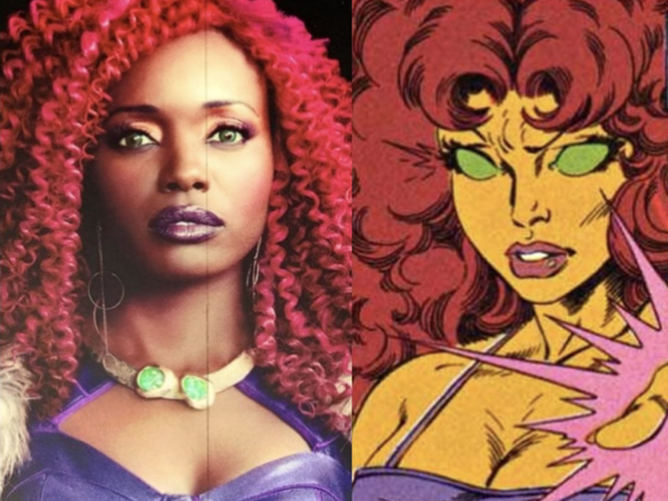 """A0222CF4_7C59_4384_AC37_709E874EFE18.0 Teen Titans' Starfire is an orange alien. Racist """"fans"""" don't want a black woman playing her."""
