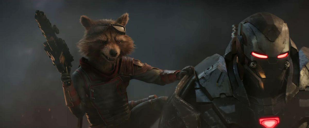 Avengers: Endgame trailer - Rocket riding on War Machine