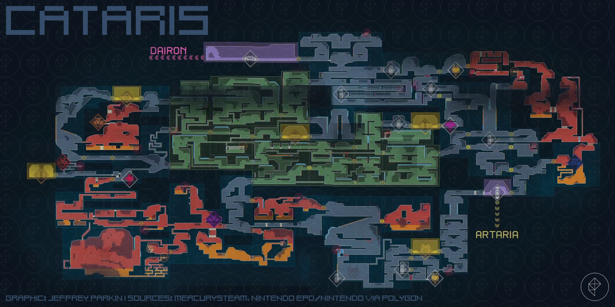 Metroid Dread Cataris map