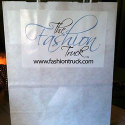 This is what the Fashion Truck's shopping bag looks like.