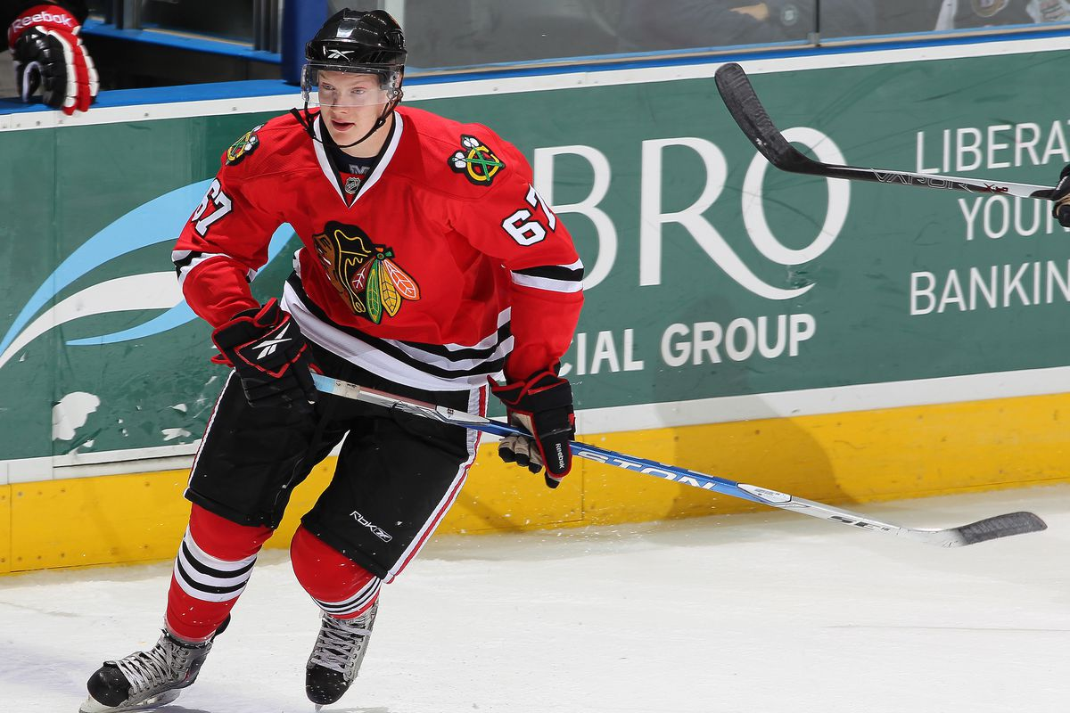 Rob Flick (pictured here as a Blackhawk) scored the winning goal for Portland.