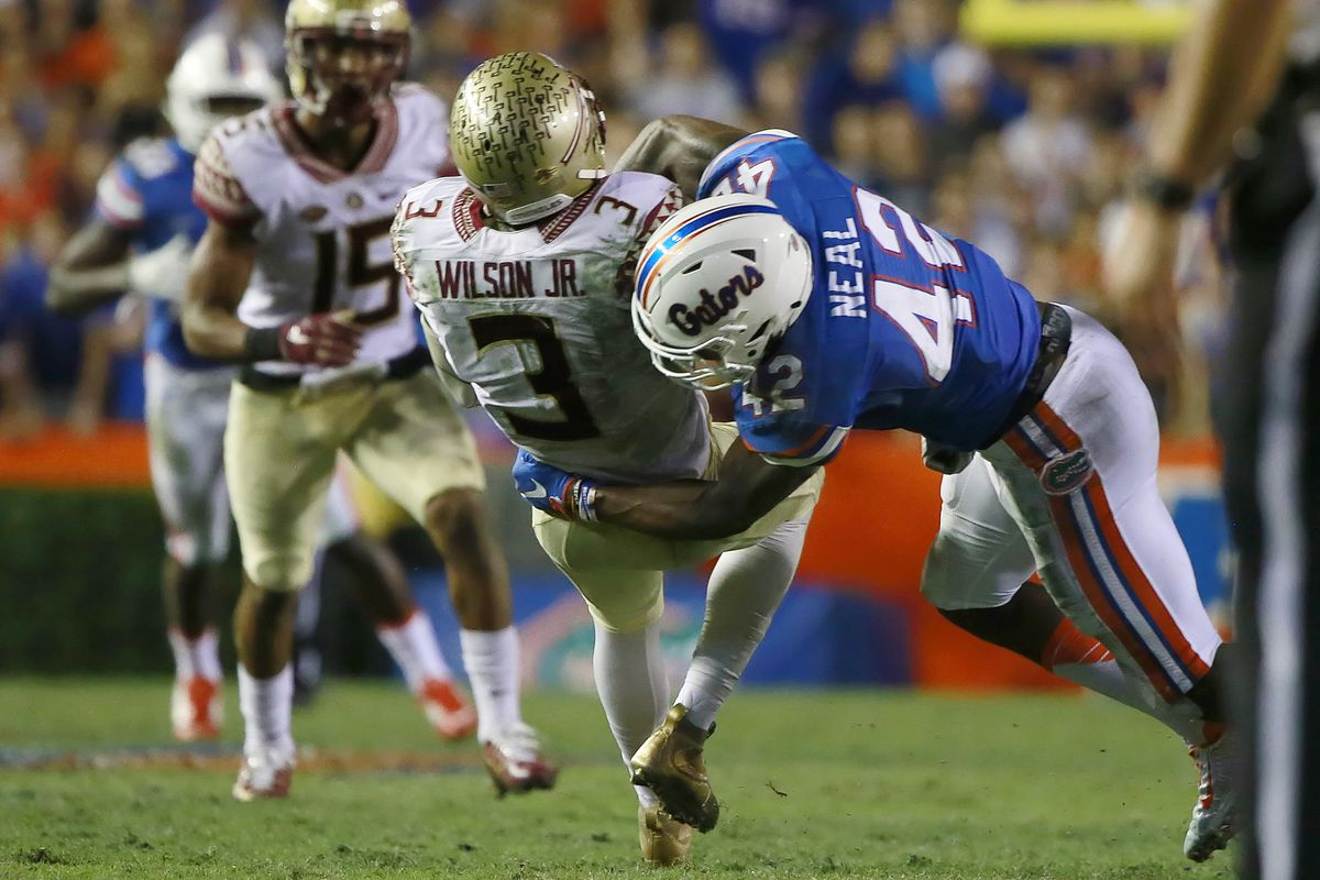 The Florida defense is as physical as they come.