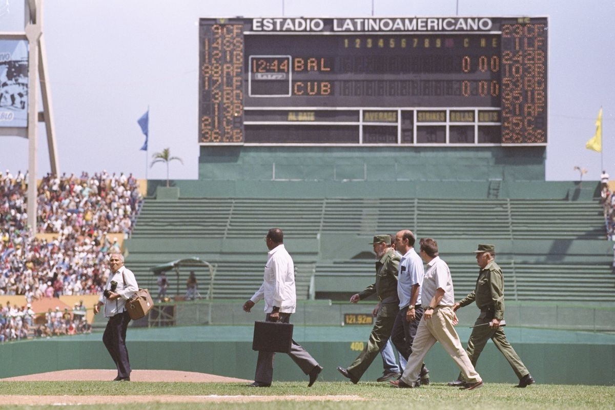 The Baltimore Orioles played the Cuban National team in 1999 in Cuba's most famous stadium.