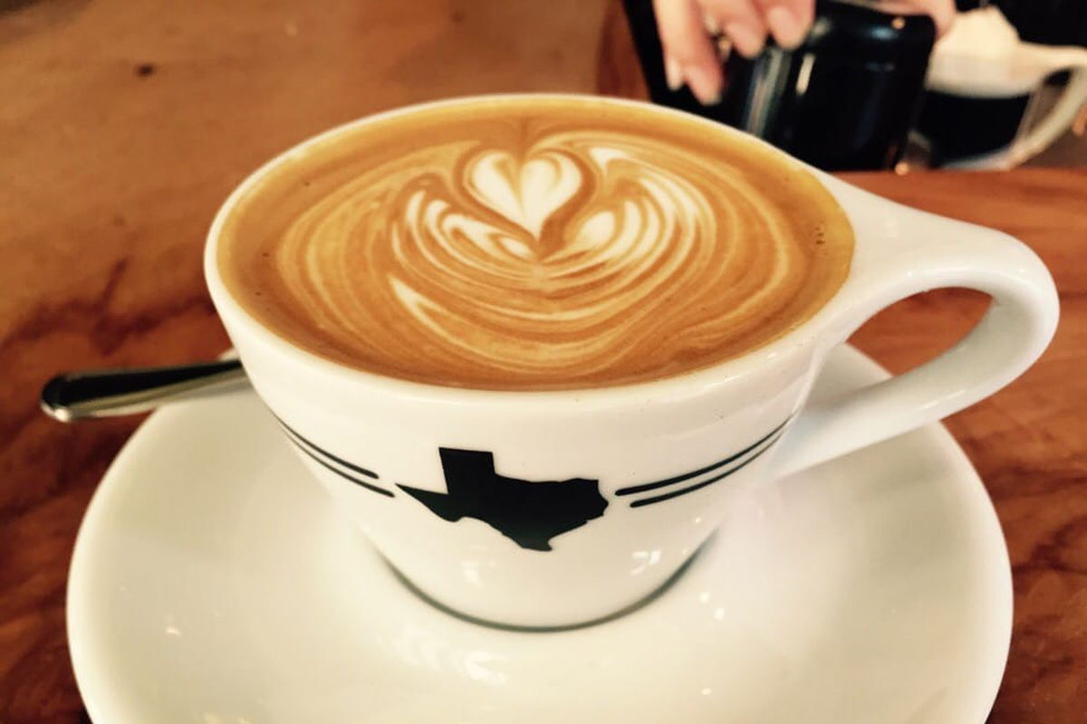 A flat white from Houndstooth