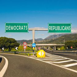 The Democratic Party is popular among Americans who aren't active in religious communities, while the Republican Party continues to enjoy high levels of support from Protestants.
