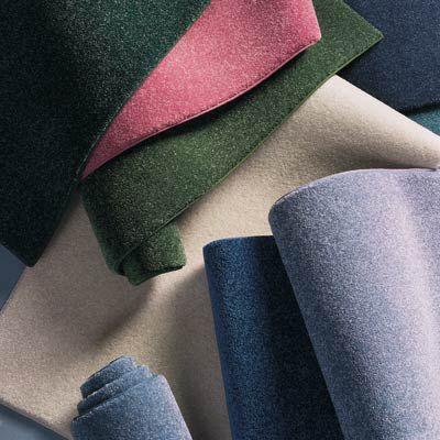 Colorful carpet fibers.