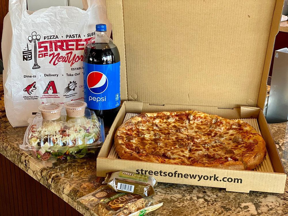 One of the daily meal specials available for pick and delivery at Streets of New York.