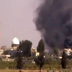 This image made from amateur video provided by Shaam News Network and accessed by the Associated Press on Friday, Sept. 8, 2012 purports to show smoke from intense shelling in the Tel Chehab area of Daraa, Syria. Activists have reported clashes between troops and rebels in a southern neighbourhood of the capital, Damascus. The Britain-based Syrian Observatory for Human Rights and Local Coordination Committees had no immediate word on casualties from Friday's clashes in Kazaz. The Observatory reported many arrests in the town of Tel Chehab on the border with Jordan, recaptured by troops Thursday.