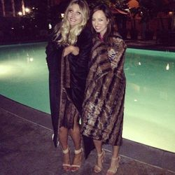 """""""Thanks for keeping @devonrachel and I warm on this chilly LA night @qvc! So much fun at #qvcredcarpet"""" - <a href=""""http://instagram.com/p/WECjJLLME2/""""target=""""_blank"""">Sydne Summer</a>"""