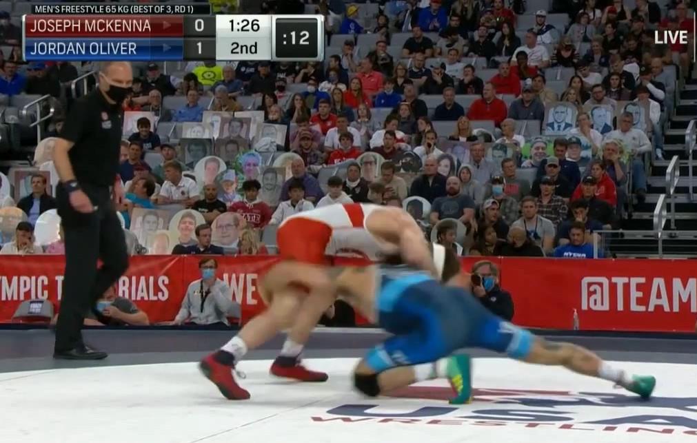 Jordan Oliver takes down Joey McKenna Olympic Trials