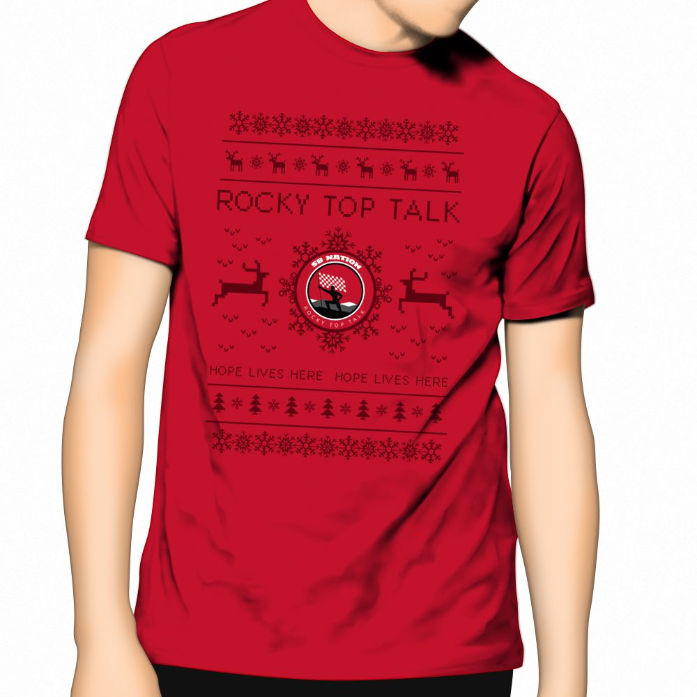 Presenting The Rocky Top Talk Ugly Christmas Sweater T Shirt Rocky