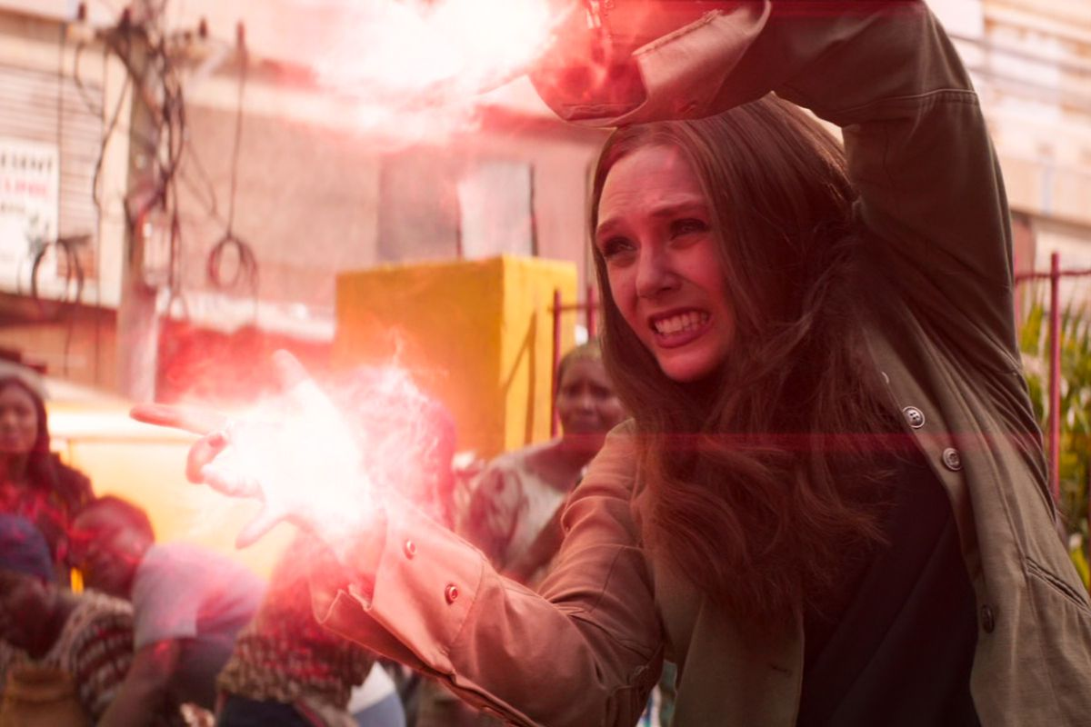 Wanda uses her powers to blow up a bomb in Captain America: Civl War