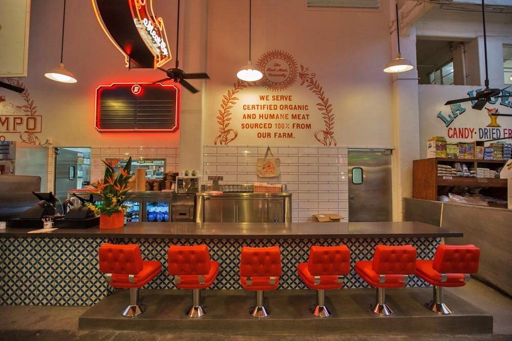 Counter at Belcampo Meat Co. in 2014 inside Grand Central Market in Downtown Los Angeles.