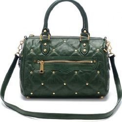 Quilted leather Flame satchel, $272 ($495)