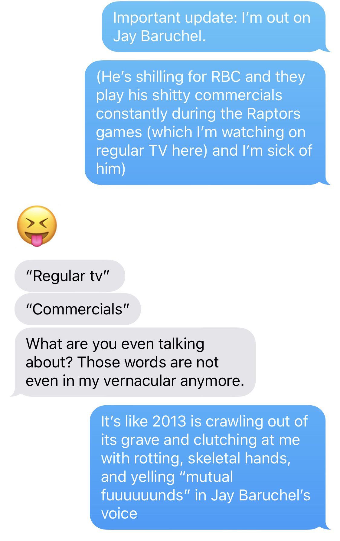 Cleveland Cavaliers, Toronto Raptors, Jay Baruchel