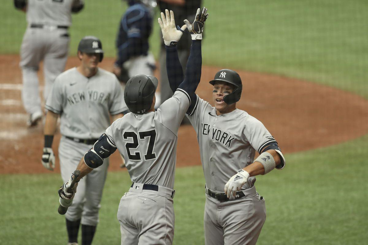 MLB: AUG 08 Yankees at Rays Game 1
